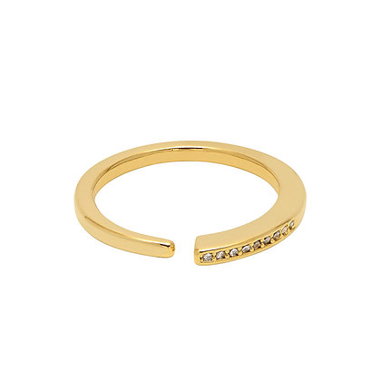 Delicate Open CZ Gold Ring EB
