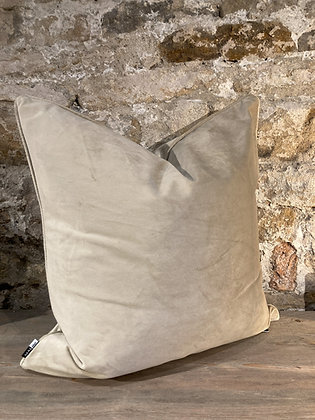 Champagne Velvet Square Cushion