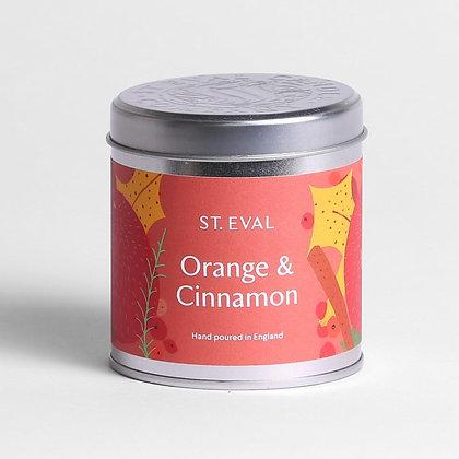 Orange & Cinnamon Candle Tin