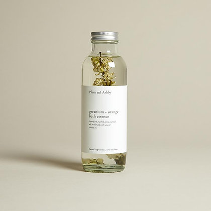 Geranium & Orange Bath Essence Plum & Ashby