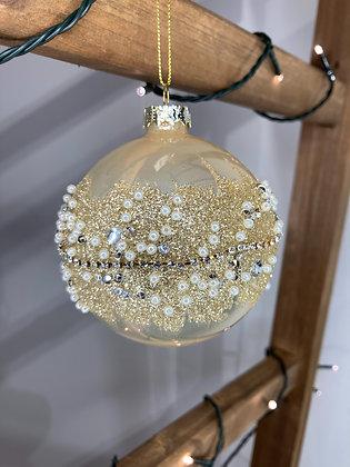 Glitter & Pearl Saturn Bauble