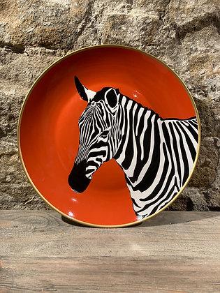 Zebra Decorative Plate
