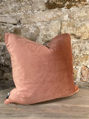 Blush Velvet Square Cushion