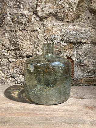 Green Burnished Glass Vase
