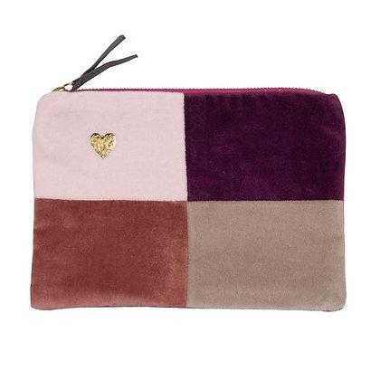 Pinks Velvet Zip Pouch