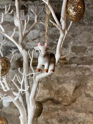 Hanging Farm Animals Cow