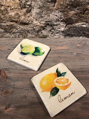Lemon Lime Coaster Set of 4