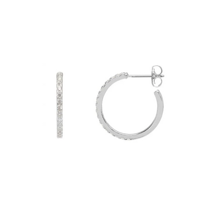 Silver/ Gold CZ Hoops EB