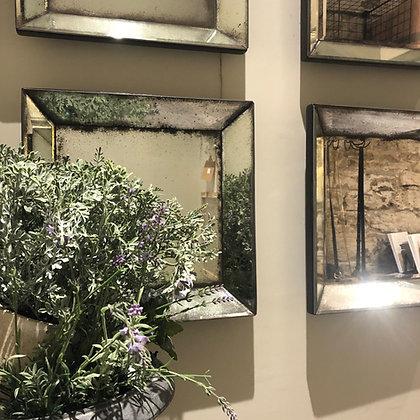 Square Rustic Mirror