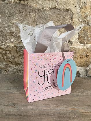 Mini Pink Sprinkles Gift Bag