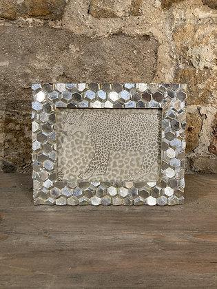 """Hexagonal Textured Frame 7""""x5"""""""