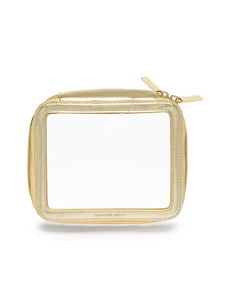 Gold Clear Zip Pouch