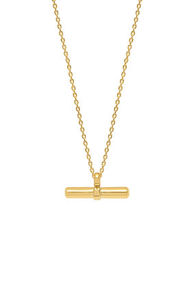 Gold T Bar Necklace EB