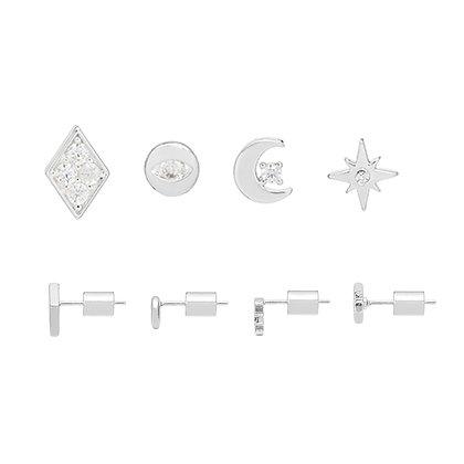 Silver Earring Quad Celestial EB