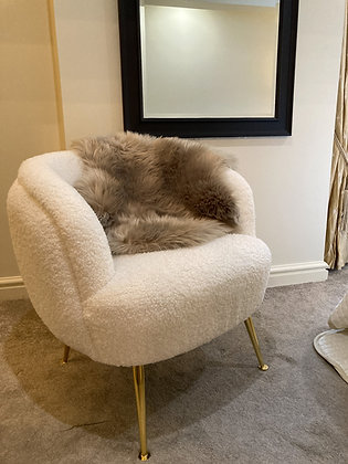 Luxe Faux Sheep Skin Taupe