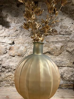 Matte Glass Floor Vase