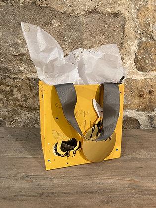 Mini Yellow Bumblebee Gift Bag