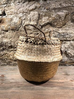 Gold/ Natural Belly Basket
