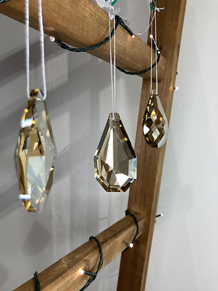 Smoked Glass Hanging Crystals