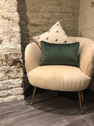 Rectangle Velvet Look Cushion Green