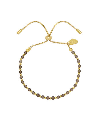 Gold & Smoky Quartz Toggle Bracelet EB