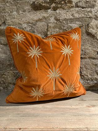 Palm Cushion Orange