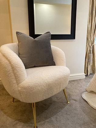 Taupe Velvet Cushion