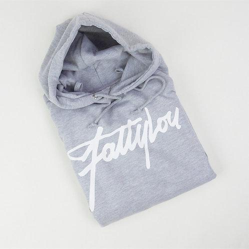 FattyLou Signature Pull Over Hoody - Grey
