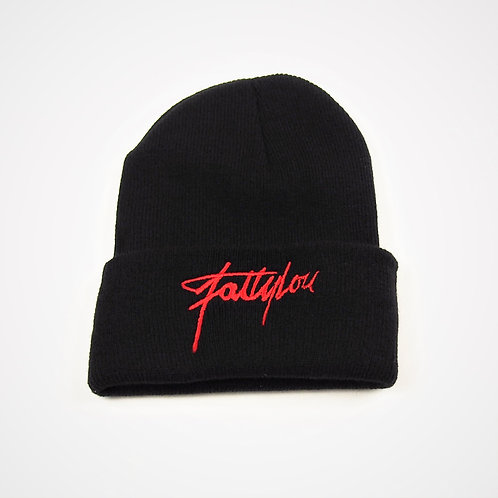 FattyLou Signature Beanie - Black