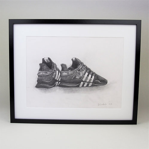 EQT x Undefeated Pencil drawing A3