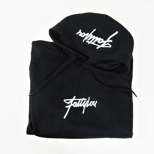 FattyLou Hood Print Pull over - Black