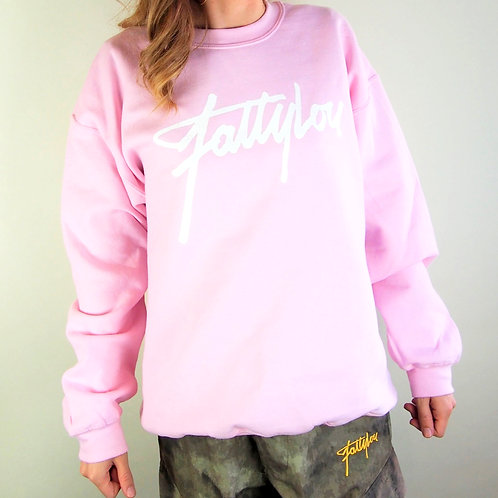 FattyLou Signature Pull Over - Pink