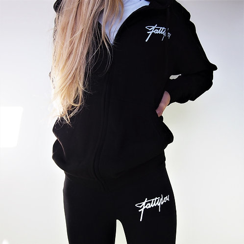 Signature Zip Up Hoody - Black