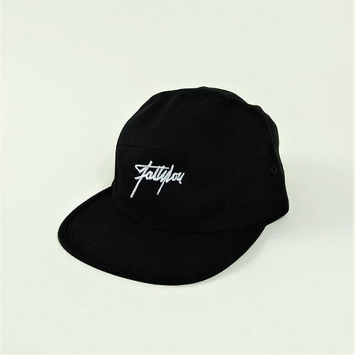 FattyLou Signature 5 Panel Cap - Black