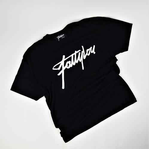 FattyLou Chest Print Signature T - Black