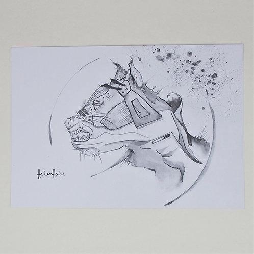 Jordan 4 x Wolf Print