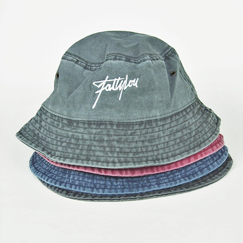 Denim Bucket Hat - Blue - Green - Red - Black