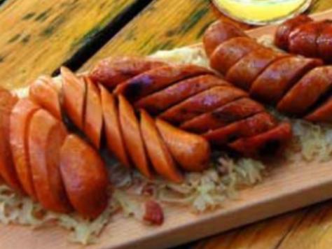 Sausage Platter at Steep Brewery- Apres
