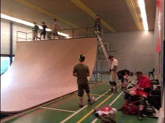 Halfpipe XL, skateshows.nl, training Noordwijk