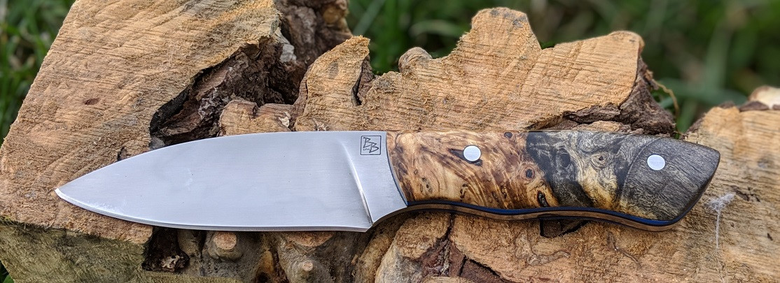 Buckeye Burl Drop Point Hunter