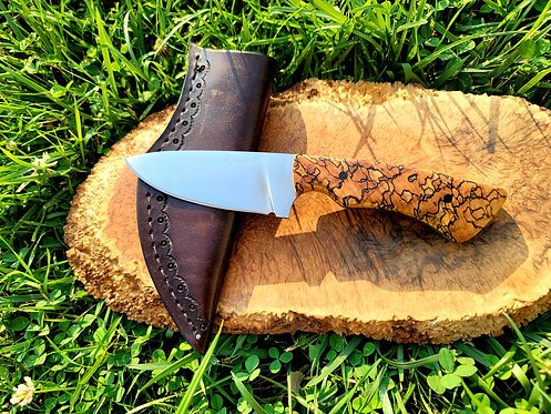 1095 Hunter with hamon and spalted maple