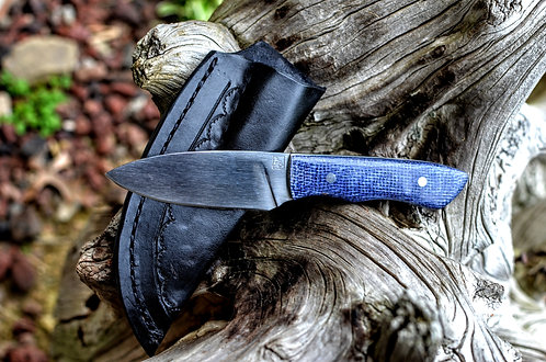 W2 Hunter with Blue Shadetree micarta