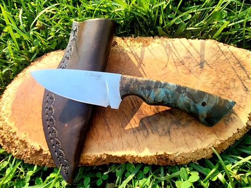 1095 Hunter with hamon and maple burl