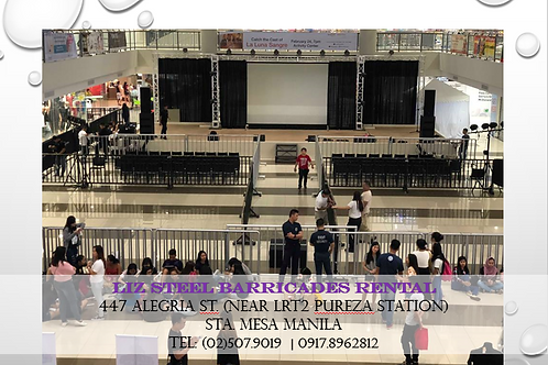 Steel Barricades for Rent (4FTx8FT) @ SM MALL OF ASIA CONCERT GROUNDS