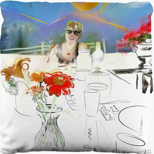 "Custom Pillow Portrait 18"" x 18"""