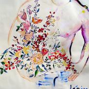 Boy with Flowers 20 x 30