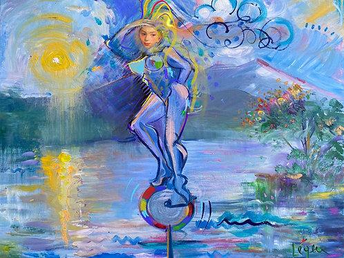 American Art Spirit Rides Her Color Wheel Across the Hudson