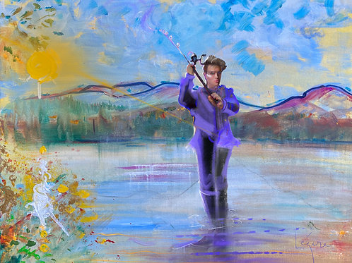 Pretty  Boy Fishing in the Hudson