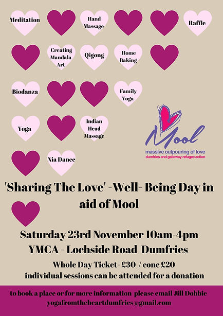 Sharing Love Well-Being Day Saturday 23r