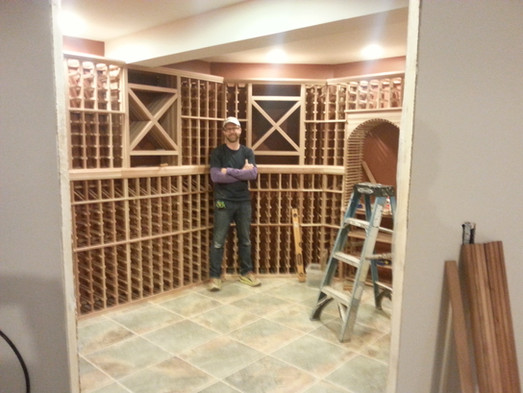 Custom wine cellar done for a client